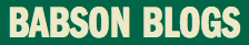 Babson blogs logo